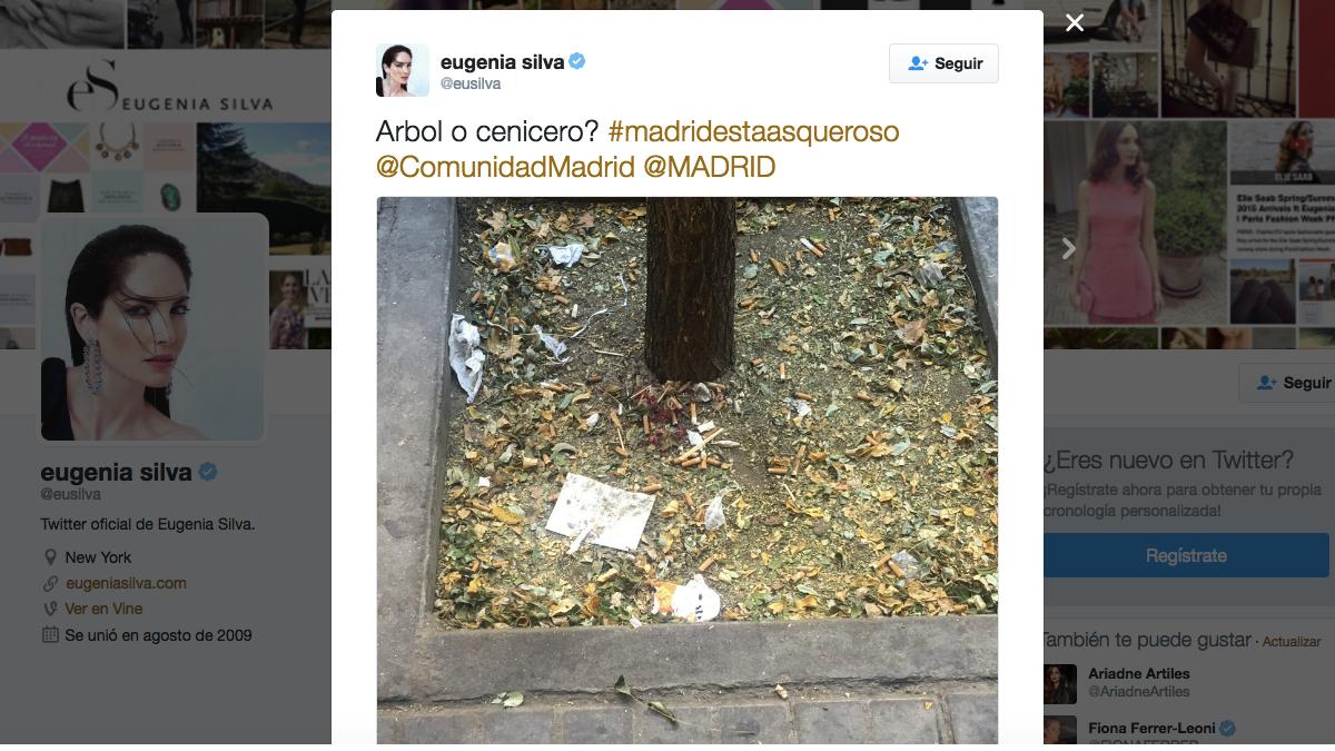 Tuit de Eugenia Silva de Madrid. (Foto: TW)