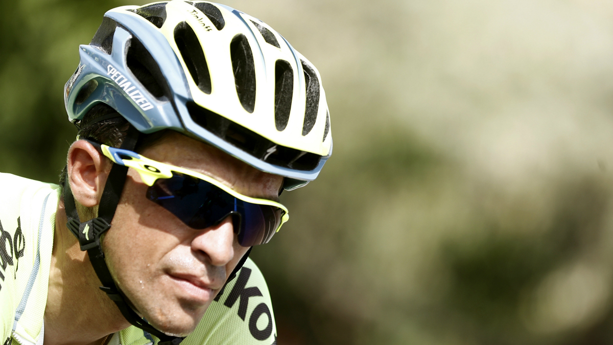 Contador, en una etapa de la Vuelta a España. (EFE)
