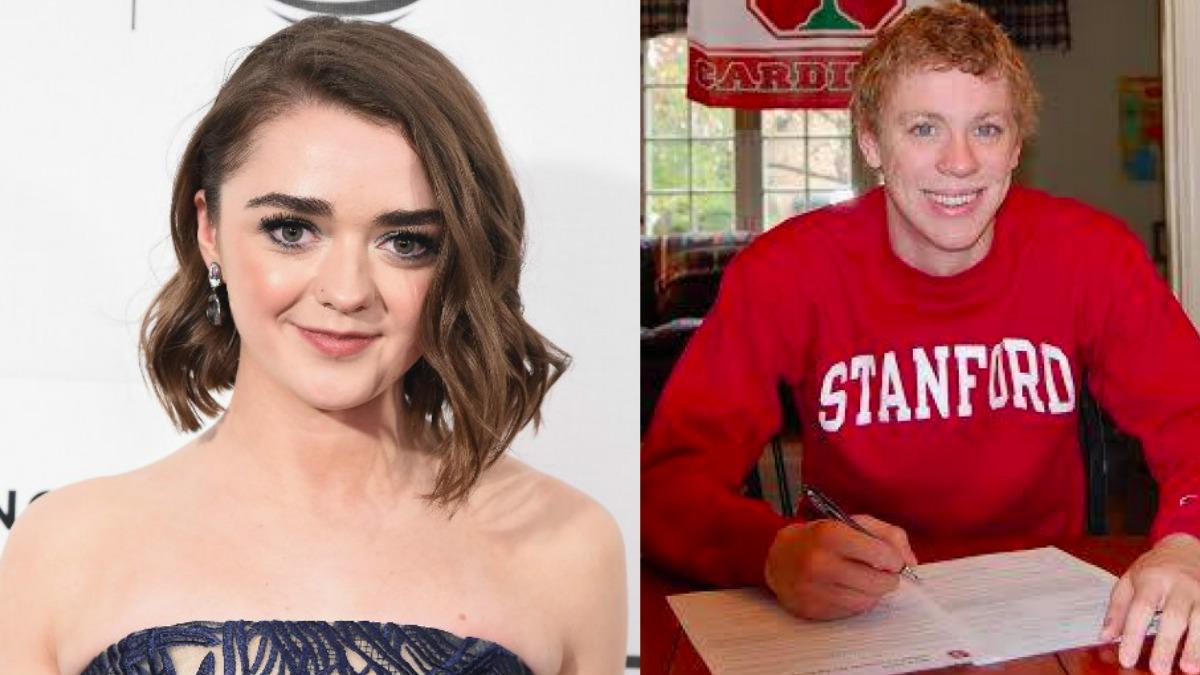 Maisie Williams, Arya en Juego de Tronos, a la izquierda y Brock Turner, el violador de Stanford, a la derecha. (AGENCIAS)