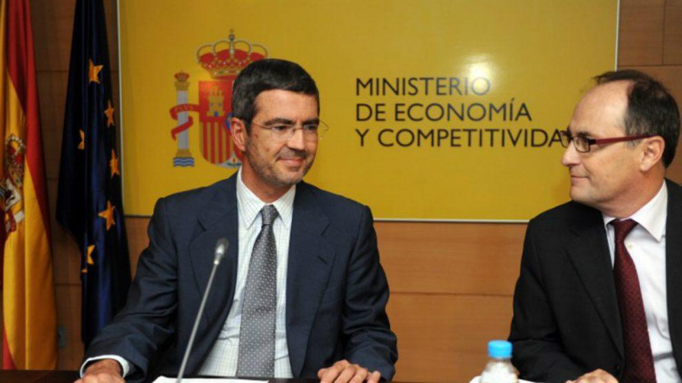 Fernando Jiménez Latorre y Fernando Restoy Lozano. (AFP)