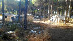 Asentamiento de inmigrantes en el Camino Monturrio de Moguer, Huelva.