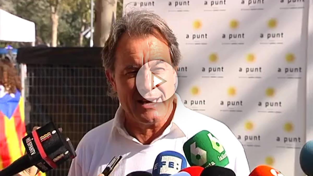 Artur Mas, en la manifestación de la Diada independentista.