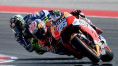 Pedrosa y Rossi, en un lance de carrera. (AFP)