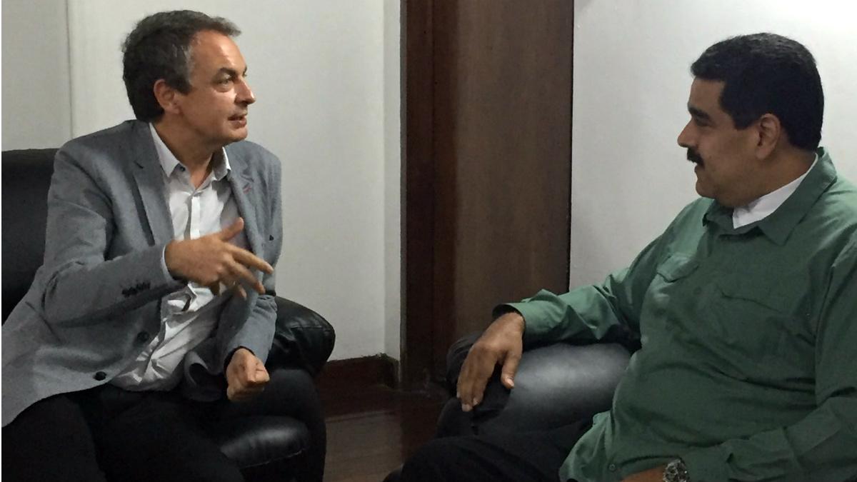 José Luis Rodríguez Zapatero con el dictador venezolano, Nicolás Maduro.