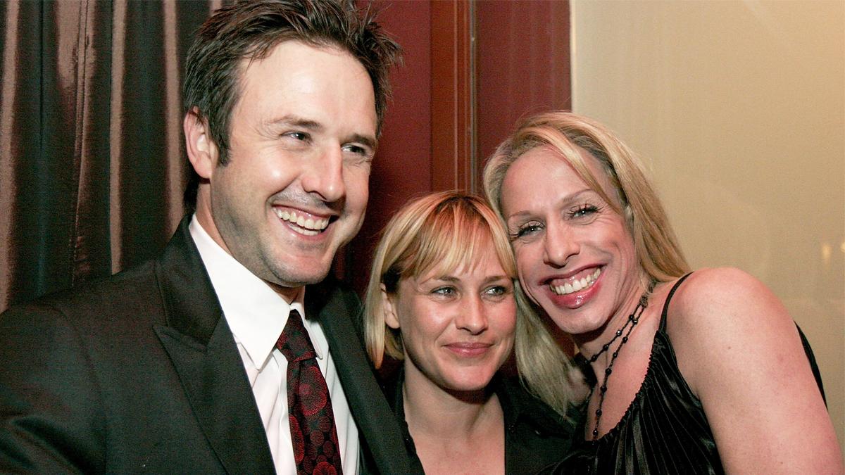 David, Patricia y Alexis Arquette. (Foto: AFP)