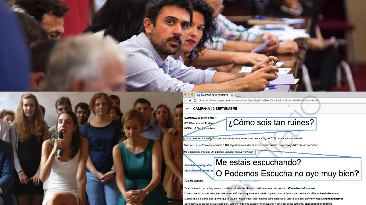Espinar ha robado una antigua cuenta en Twitter para atajar en su carrera por Podemos Madrid contra Rita Maestre. (Fotos: TW)