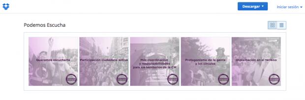 Material promocional de la campaña de Espinar en Dropbox. (Clic para ampliar)