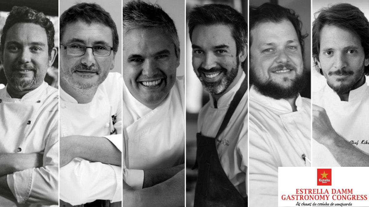 Albert Adriá, Andoni Luis Aduriz, Nandu Jubany, Kiko Martins, João Rodrígues y Henrique Sá Pessoa. (ESTRELLA DAMM)