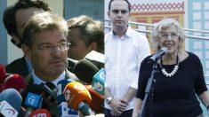 Catalá, ministro de Fomento en funciones; Calvo, edil de Urbanismo y Carmena, alcaldesa de Madrid. (Fotos: EFE / Madrid)