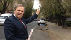 El concejal Carmona en Aluche. (Foto: TW)