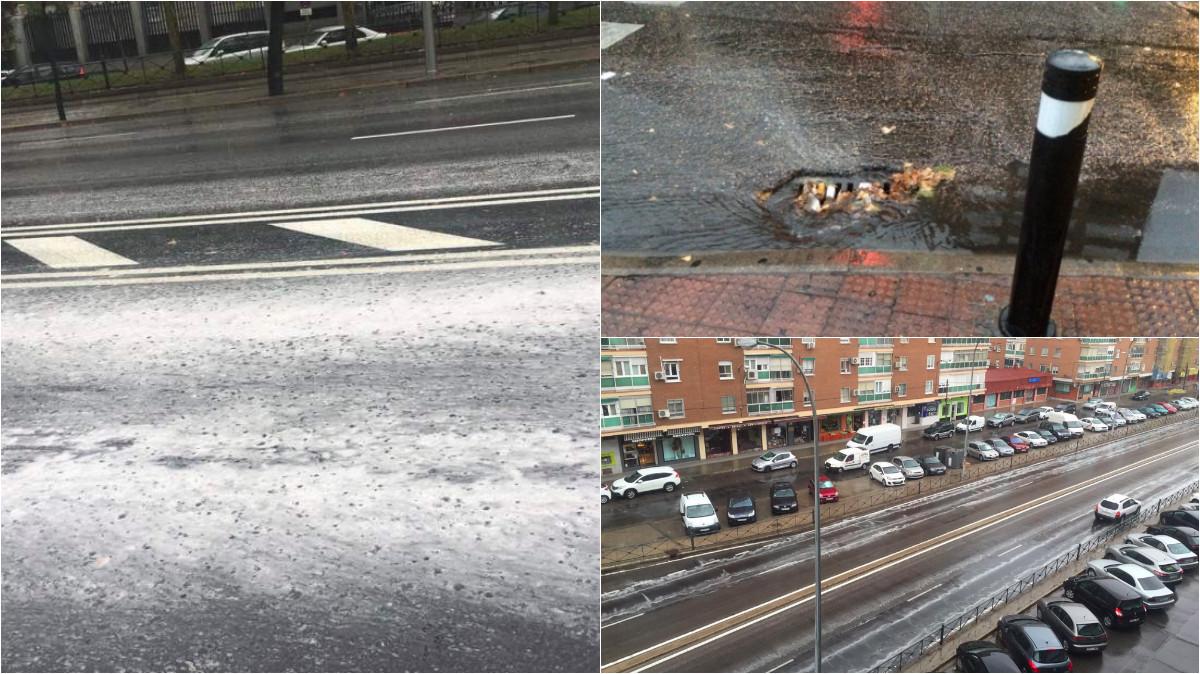 Las calles de Madrid han reaccionado con la lluvia. (Fotos: TW)