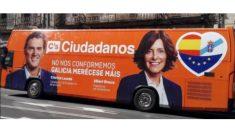 Autobús de campaña de Ciudadanos en Galicia. (Foto: @jmarcos78)