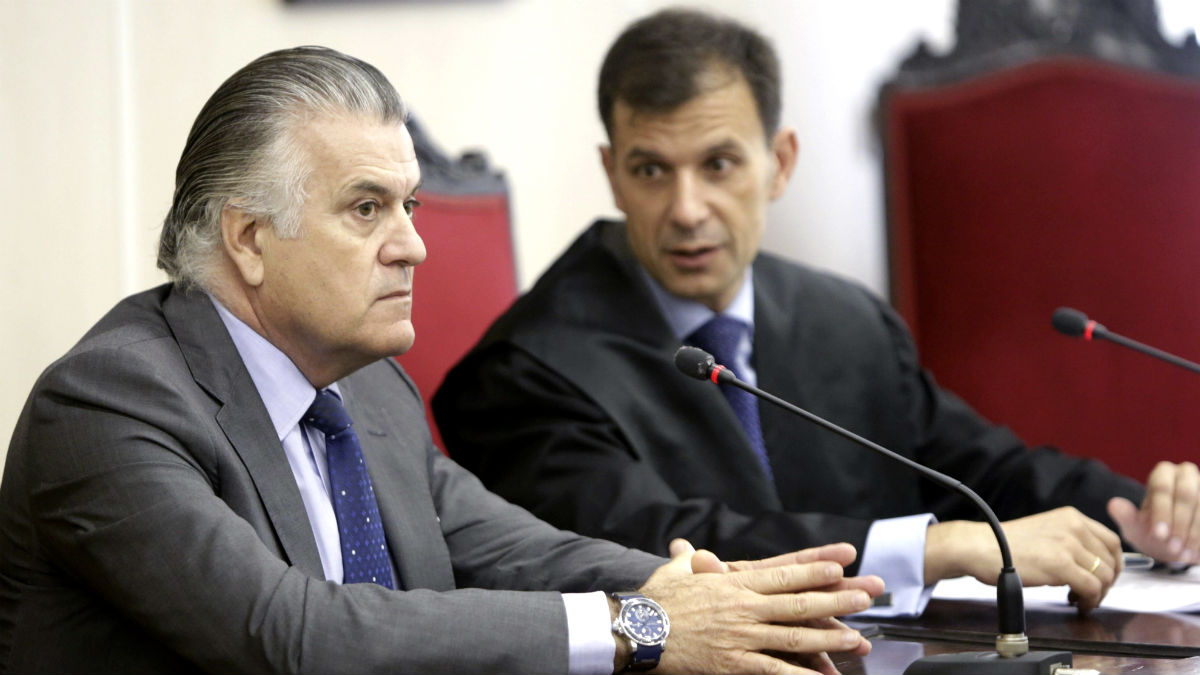 Luis Bárcenas, durante el juicio celebrado por su despido como tesorero del PP (Foto: Efe)