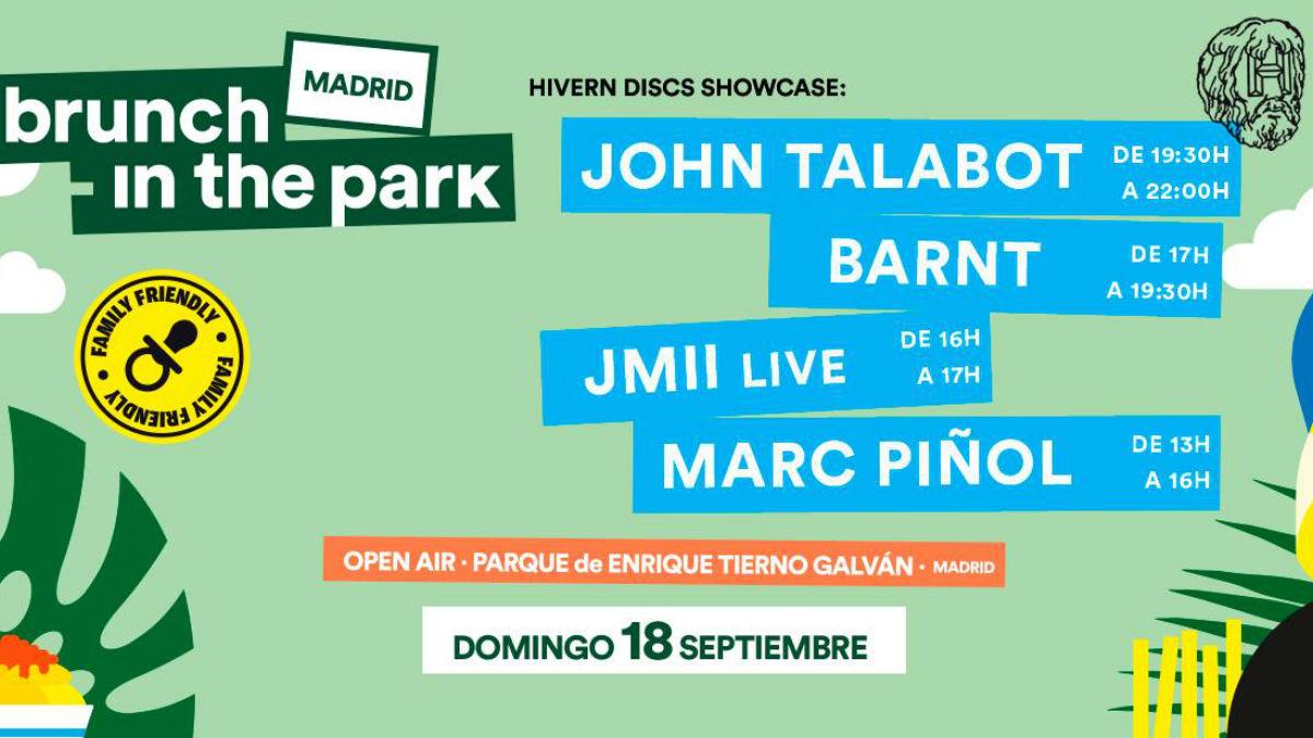 El cartel del Brunch -In The Park Madrid del próximo 18 de septiembre.