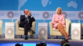 Luis de Guindos y la presidenta del FMI, Christine Lagarde (Foto: GETTY).