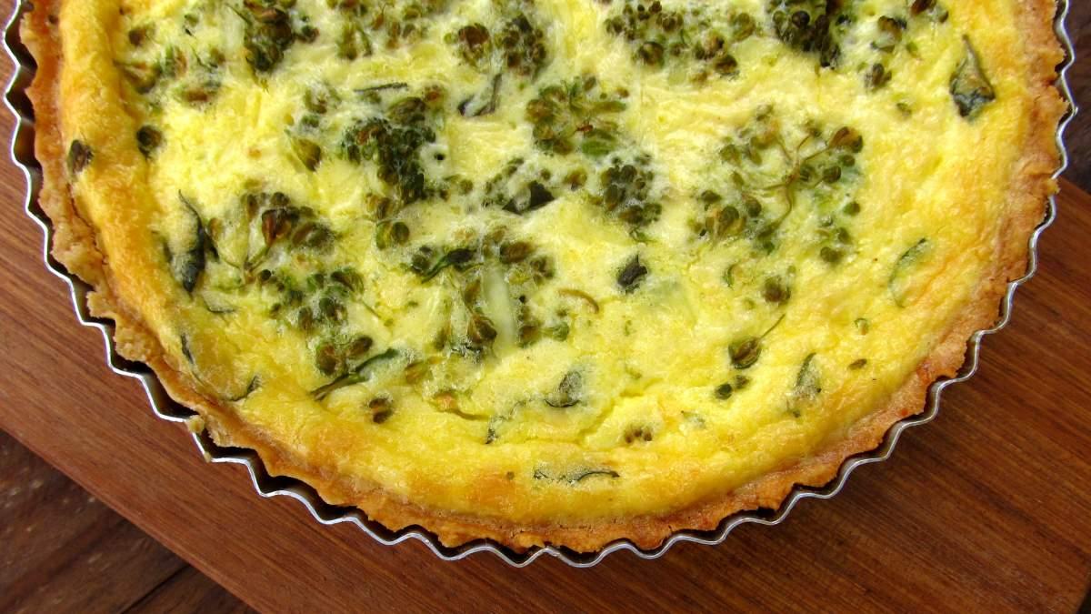 Receta de Quiche de brócoli y queso
