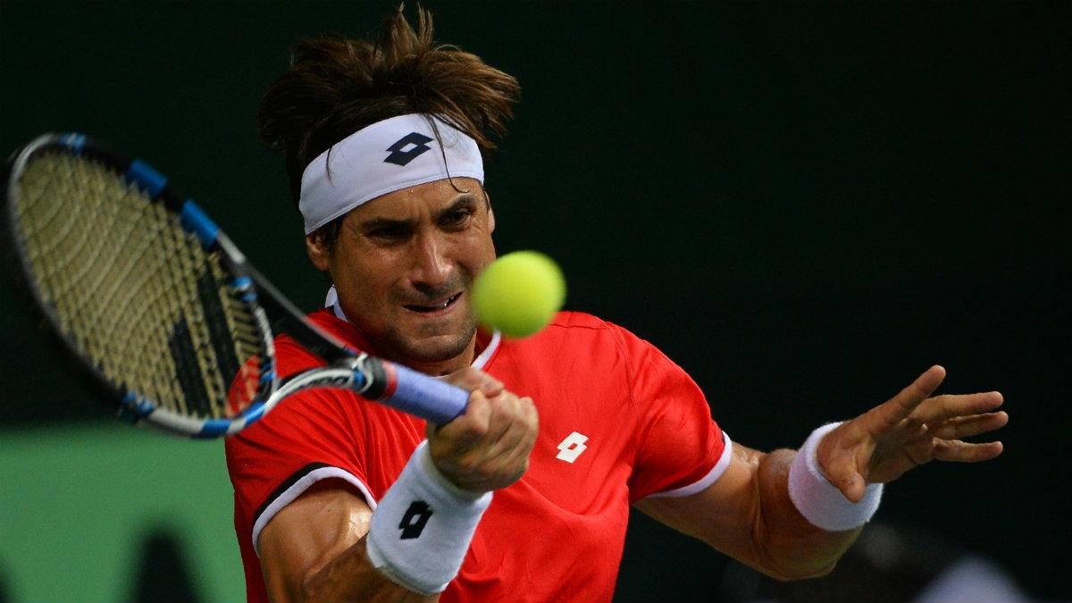 David Ferrer dio a España el segundo punto. (AFP)