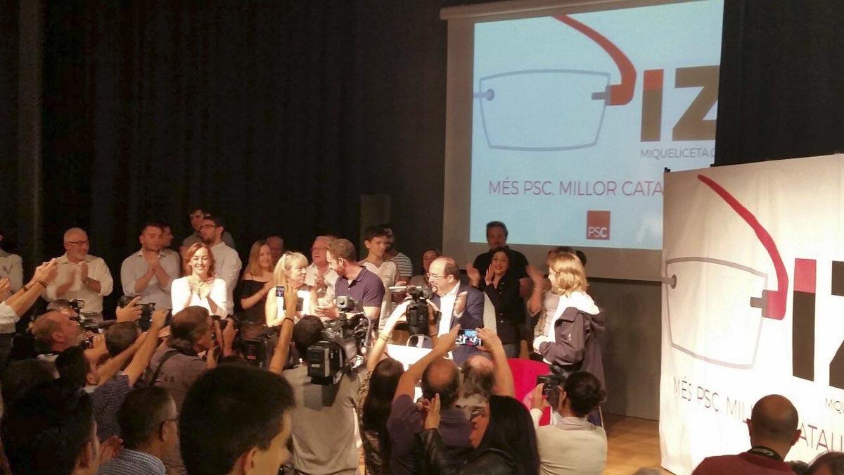 Presentación de la campaña de Iceta a las primarias del PSC. (Foto: PSC)