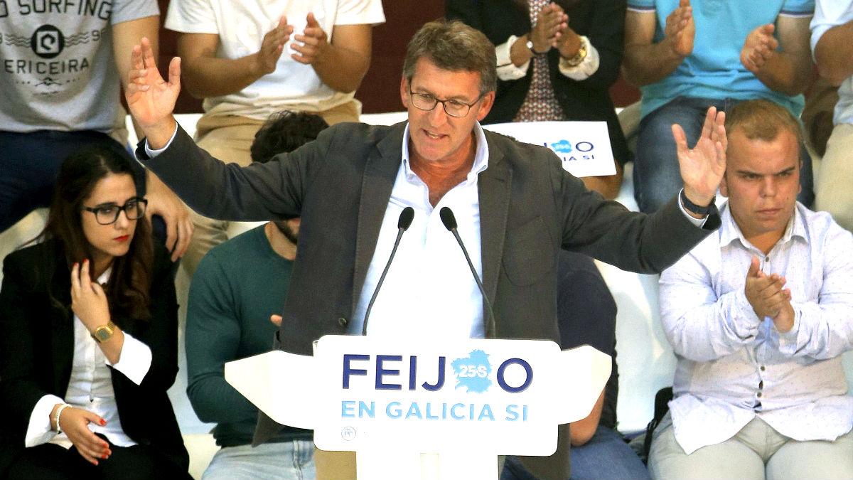 Feijóo en un reciente acto electoral (Foto: Efe).