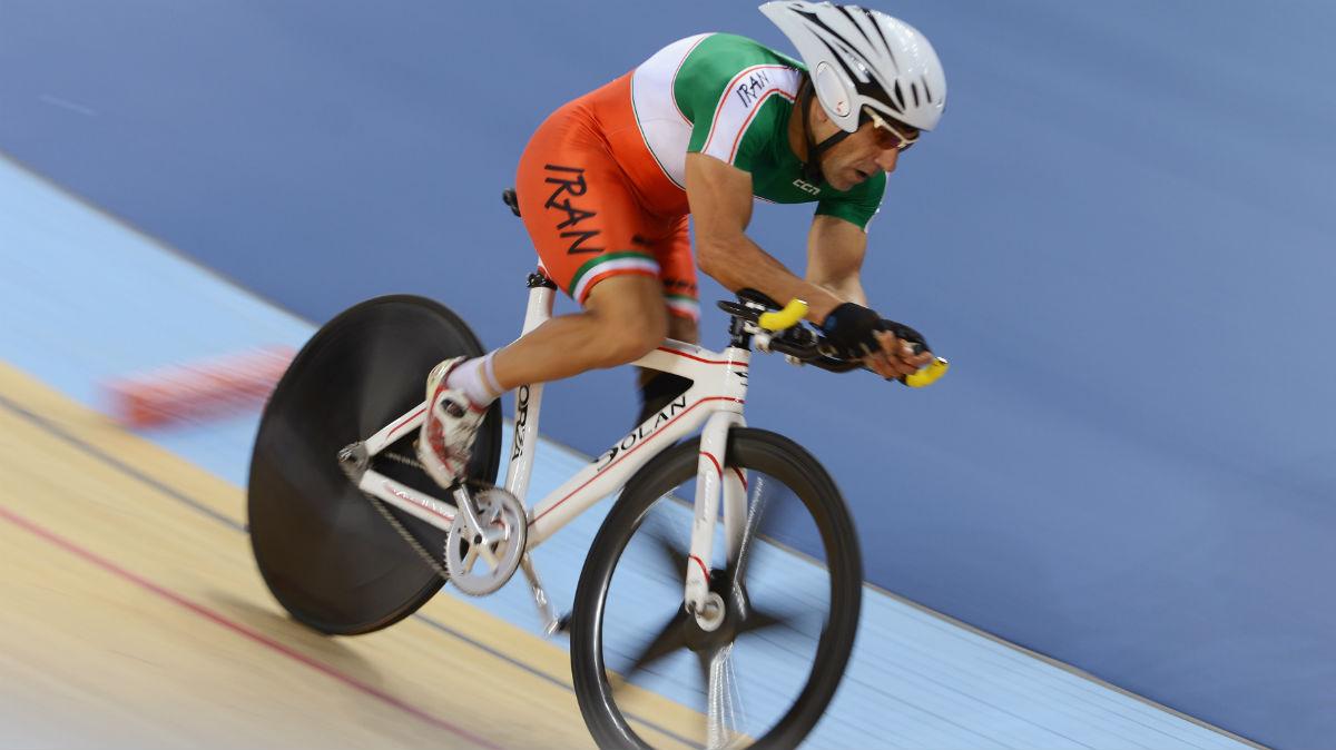 El ciclista paralímpico Bahman Golbarnezhad, en una foto de archivo. (Getty)