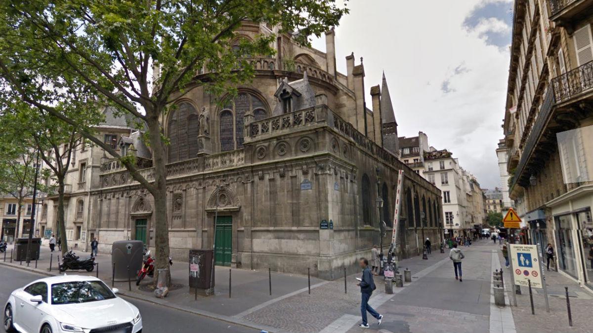 Iglesia de Saint-Leu-Saint-Gilles, en el barrio parisino de Châtelet. (GSV)