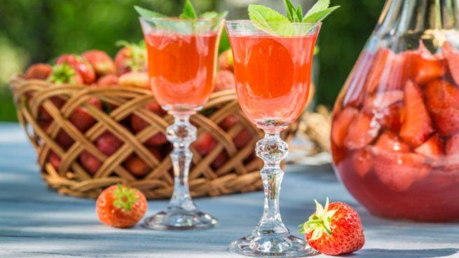 Licor de fresa casero