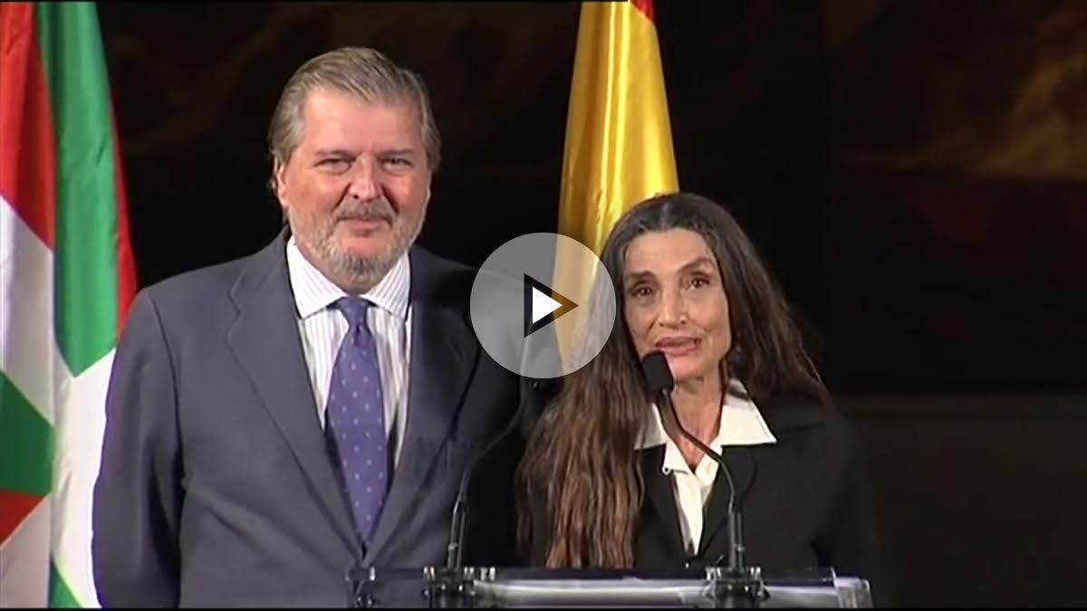 Méndez de Vigo y Ángela Molina este sábado en San Sebastián.