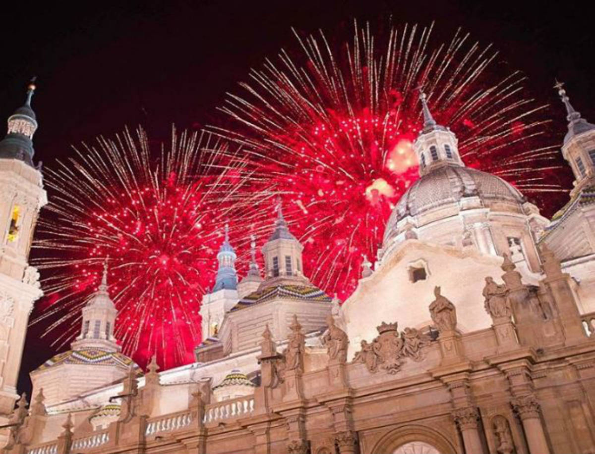 Fuegos artificiales Fiestas del Pilar 2017