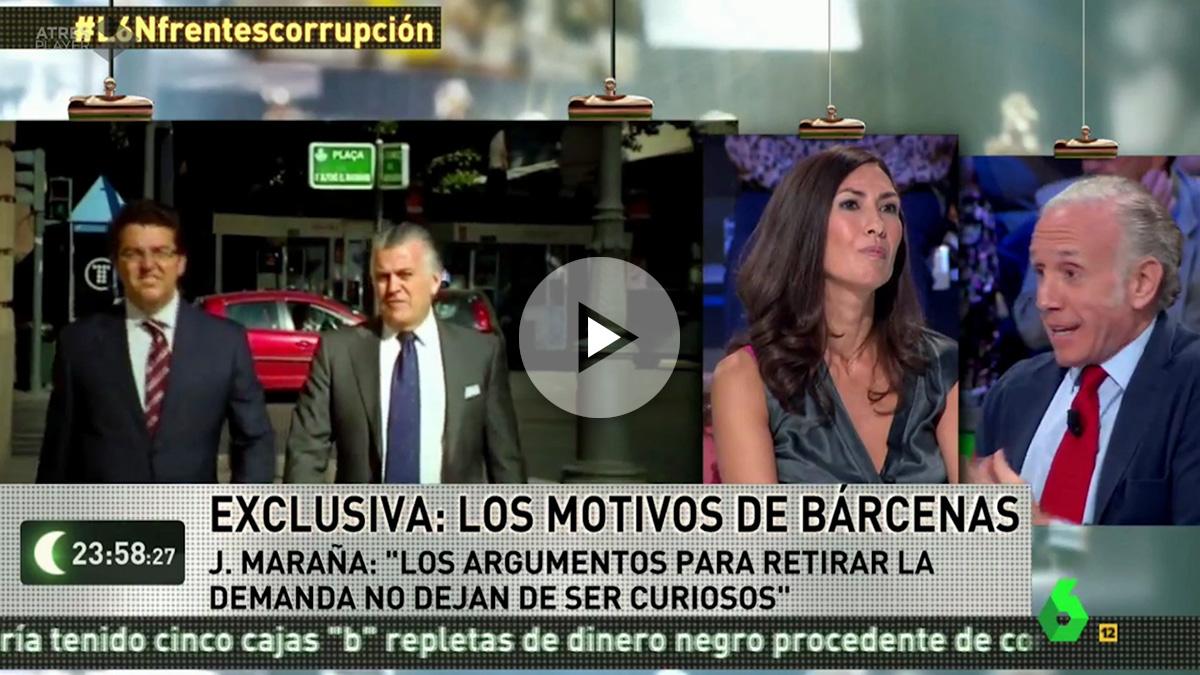 Eduardo Inda comenta el 'caso Bárcenas' en La Sexta Noche.