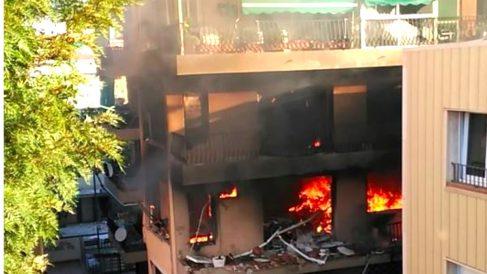 Imagen del edificio afectado por la explosión (Foto: Twitter Jordi Bravo).