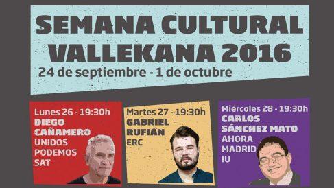 Un fragmento del cartel de la «Semana Cultural» de Vallecas.
