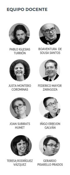 La Complutense organiza un máster podemita con Iglesias, Errejón, Monedero, Carmena, Verstrynge…