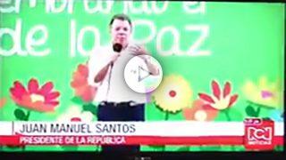Juan Manuel Santos, presidente de Colombia, en Barranquilla.