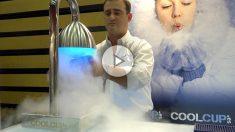 Copas congeladas con CO2.