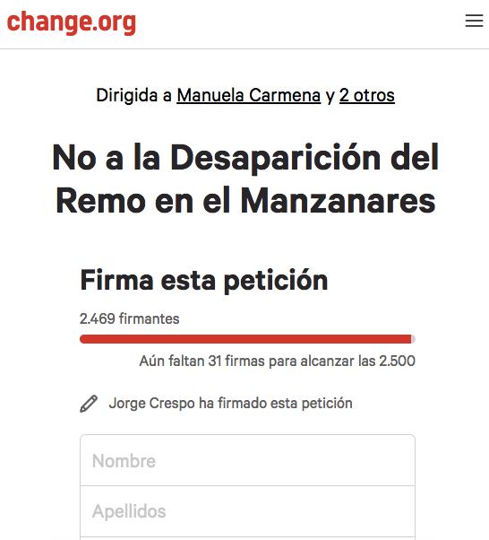 Petición online con 2.500 firmas. (Clic para ampliar)