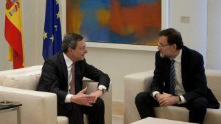 El presidente del BCE, Mario Draghi, junto a Mariano Rajoy (Foto: GETTY).