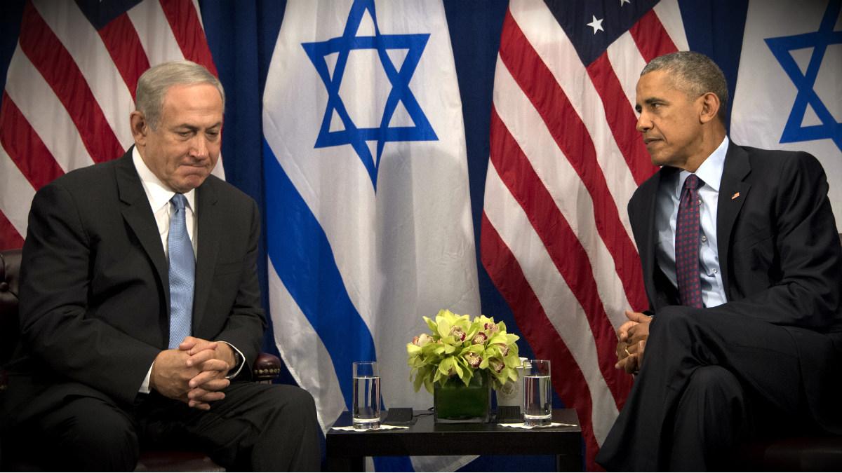 Benjamin Netanyahu, primer ministro de Israel, y Barack Obama, presidente de EEUU, en la sede de la ONU. (AFP)