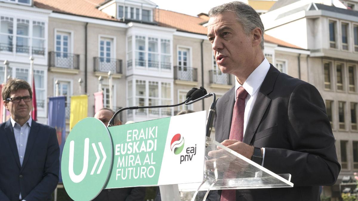 El candidato a Lehendakari y actual en funciones, Iñigo Urkullu (Foto: Efe)