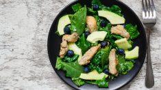 Receta de Ensalada de pollo con espinacas y peras