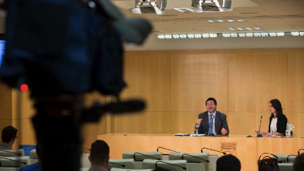Rueda de prensa del Ayuntamiento posterior a la Junta de Gobierno semanal. (Foto: Madrid)
