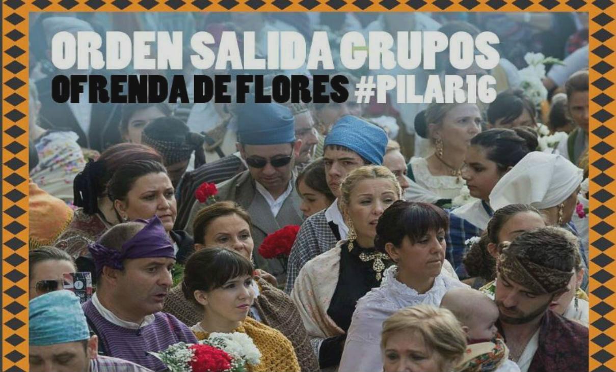 Orden Ofrenda de Flores Fiestas del Pilar 2016