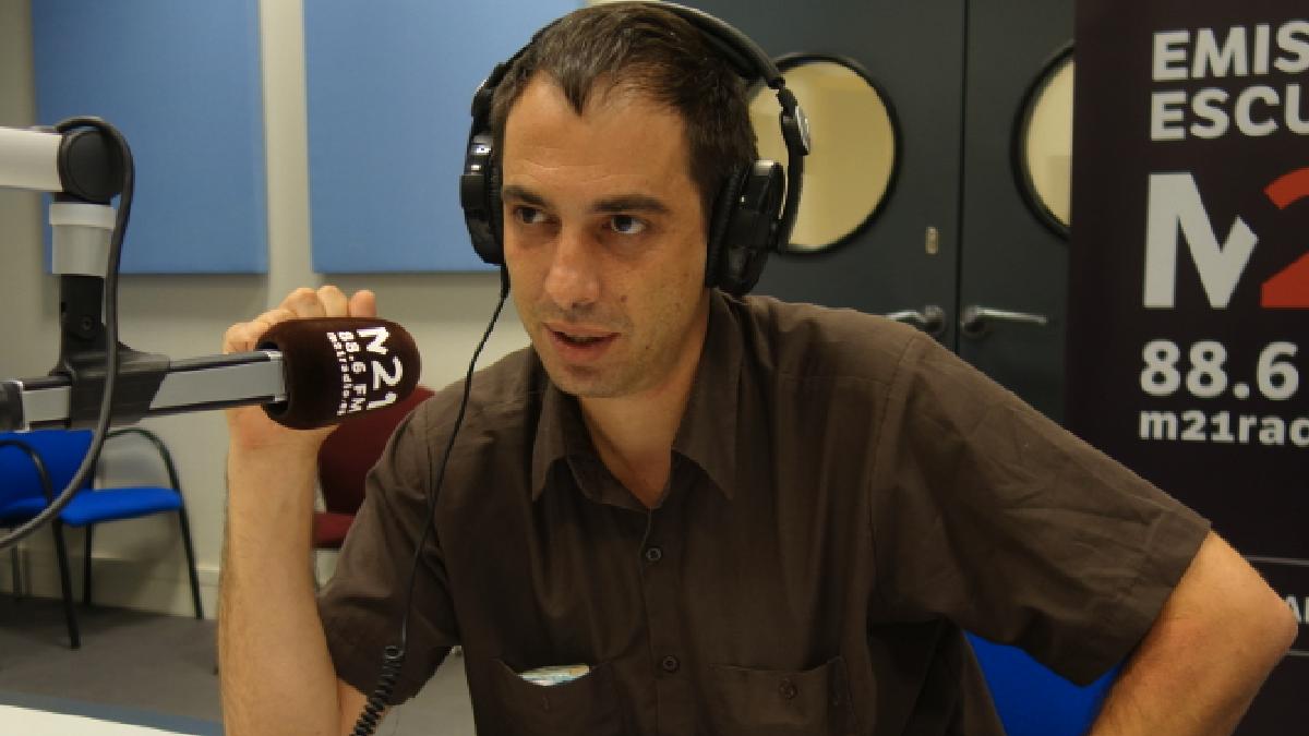 Jacobo Rivero, coordinador provisional de Radio M21. (Foto: Madrid)
