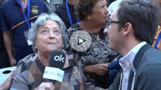 La hija de Millán-Astray, Peregrina, atiende a OKDIARIO. (Vídeo: E.Falcón / F. González)