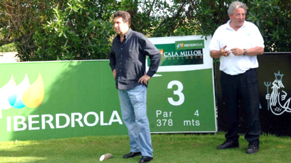 Romeo Sala junto a Olazábal en Pula Golf (Foto: cronicagolf)