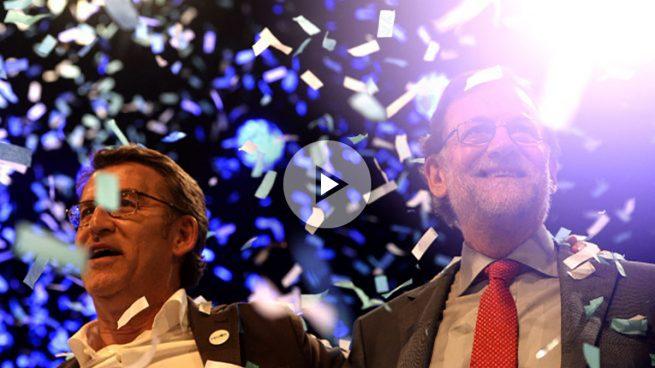 Rajoy pide un apoyo masivo a Feijóo para evitar «ensoñaciones y excentricidades»