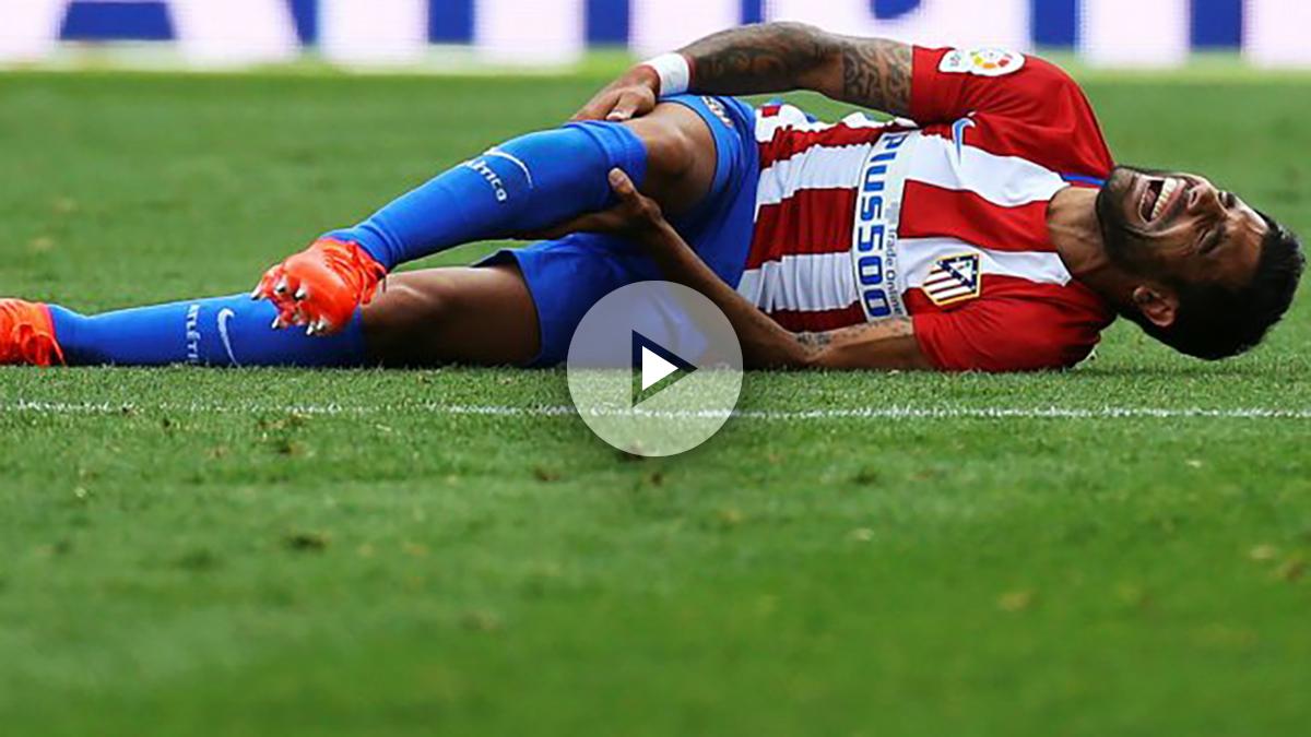 Augusto se lesionó ante el Deportivo. (AFP)