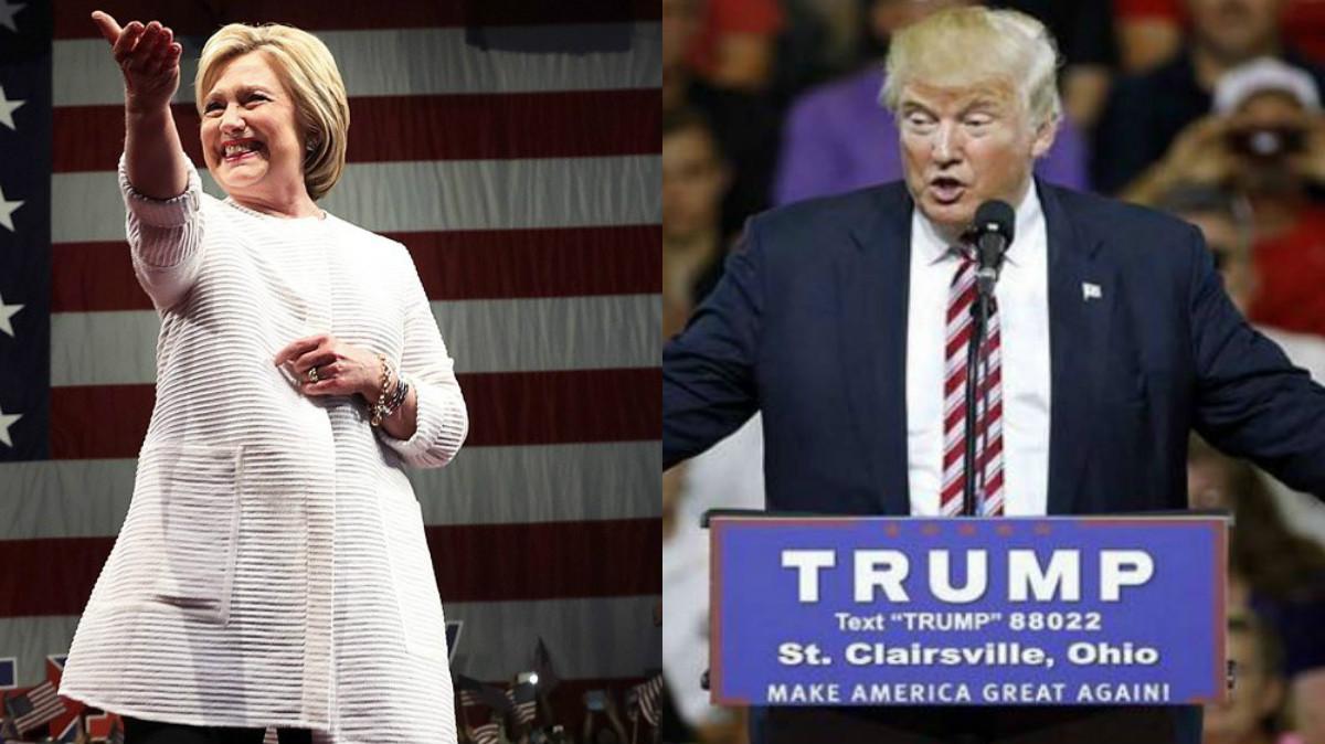 Hillary Clinton y Donald Trump, candidatos a la presidencia de Estados Unidos (Foto: AFP).