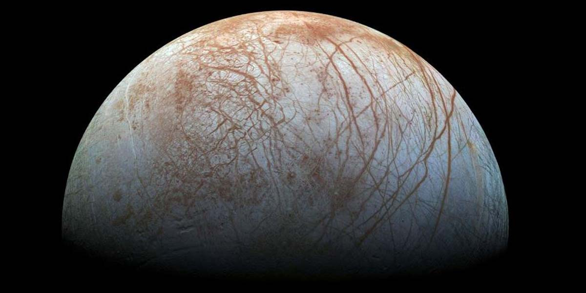 Luna Europa en la que se han hallado indicios de agua (NASA)