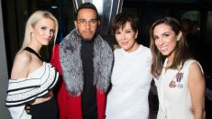 Stefania Allen, Lewis Hamilton, Kris Jenner y Kate Davidson. (Getty)