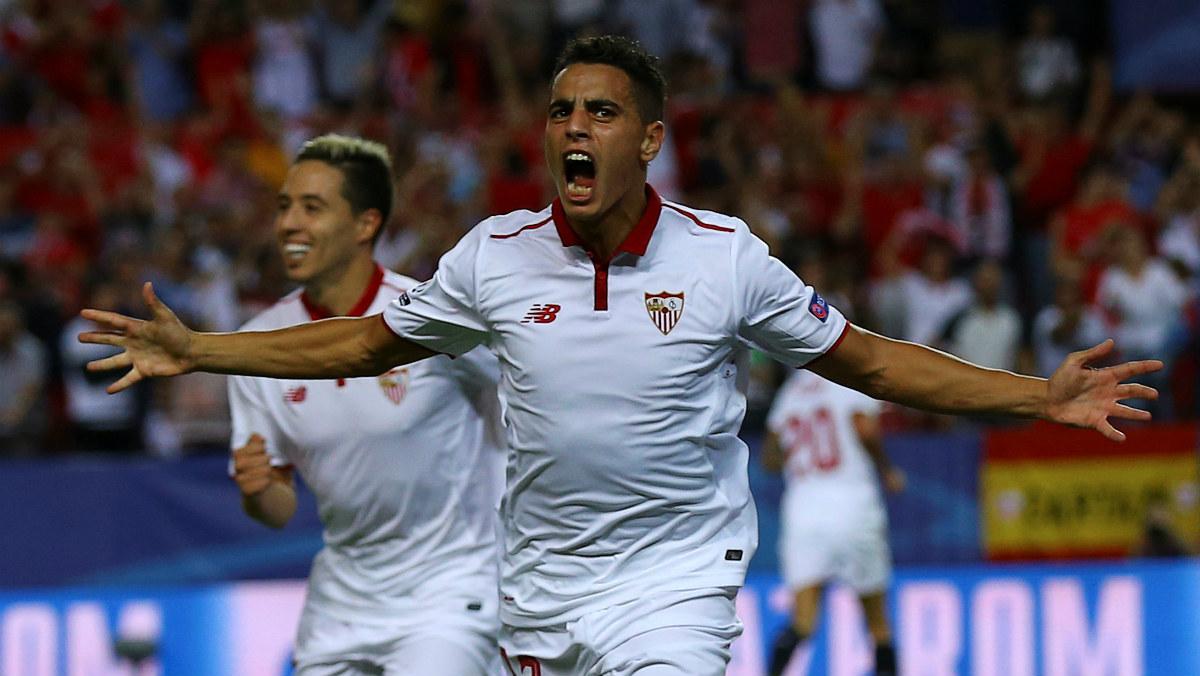 Ben Yedder celebra el gol que dio el triunfo al Sevilla. (Reuters)